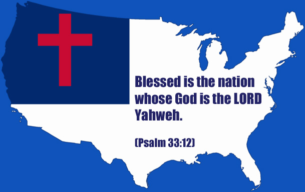 Christian Flag map of USA
